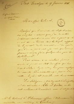 Lettre du colonel Daumas au colonel L'Heureux (recto)