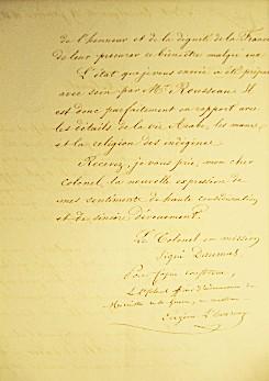 Lettre du colonel Daumas au colonel L'Heureux (verso)
