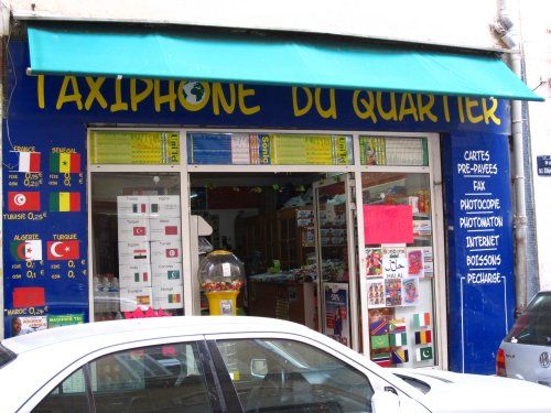 Taxiphone, Belsunce, avril 2010